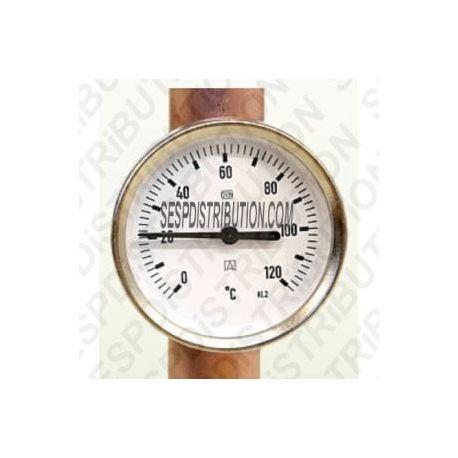 Thermomètre de chaudière fixation tuyau