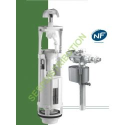 Mécanisme de WC économique complet avec robinet flotteur silencieux