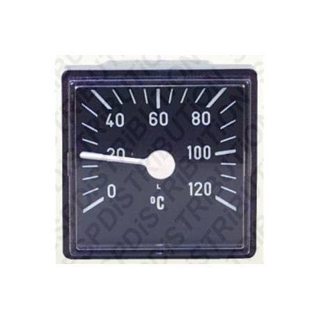 Thermomètre carré de chaudière 0 à 120°