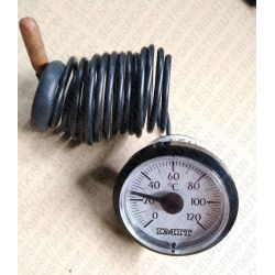Thermomètre rond de chaudière Type CW cadran de Ø 43 mm
