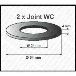 2 joints WC 64 x 24 x 4 mm joint de mécanisme WC pour Schwab et MIRA