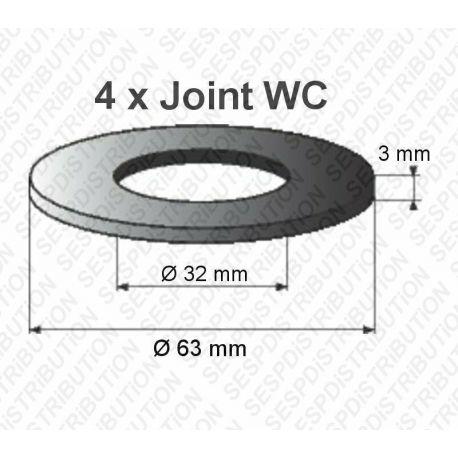 4 joints WC 63 x 32 x 3 mm joint de mécanisme WC pour GEBERIT 10000 20000 27000