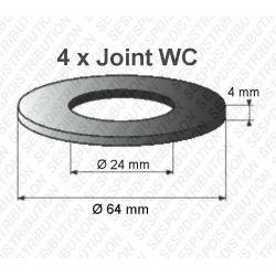 4 joints WC 64 x 24 x 4 mm joint de mécanisme WC pour Schwab et MIRA