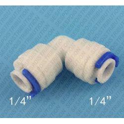 """coude PVC FF 1/4"""" 6,35 raccord tuyau LLDPE"""