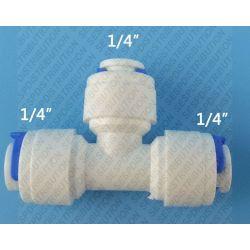 """raccord en Té PVC FFF 1/4"""" 6,35 raccord tuyau LLDPE"""