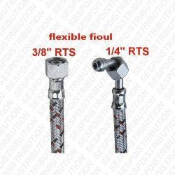 """flexible fioul coudé raccord droit F 3/8"""" coudé F 1/4"""""""