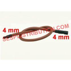 Câble électrode en silicone Haute Température 2x4 mm 45 cm