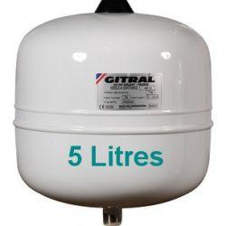 Vase sanitaire GITRAL 5 Litres vase d'expansion sanitaire blanc