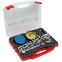 mallette de réglage pompe de fioul de chaudière avec manomètre valise réglage