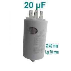 condensateur de démarrage 20 µF 450 volts