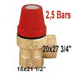 soupape 2,5 Bars sécurité à membrane Type 530 CALEFFI