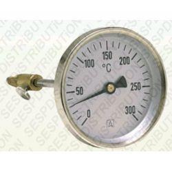 Thermomètre de fumée de 0 à 300° C AFRISO pour tube de sortie de chaudière