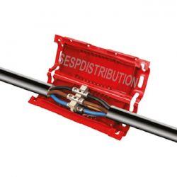 boite de raccordement étanche avec mousse résine CELLPACK 3 conducteur maxi 2,5 mm²