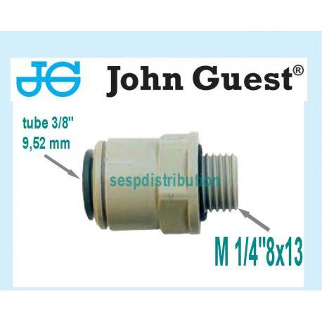 "raccord Male 1/4"" 8x13 pour tube 3/8"" 9,52 mm John GUEST pi011212s 585210"