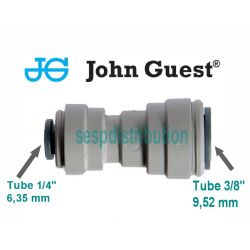 "raccord union double inégale 1/4"" 6,35 mm X 3/8"" 9,52 mm John GUEST PI201208S 591937"