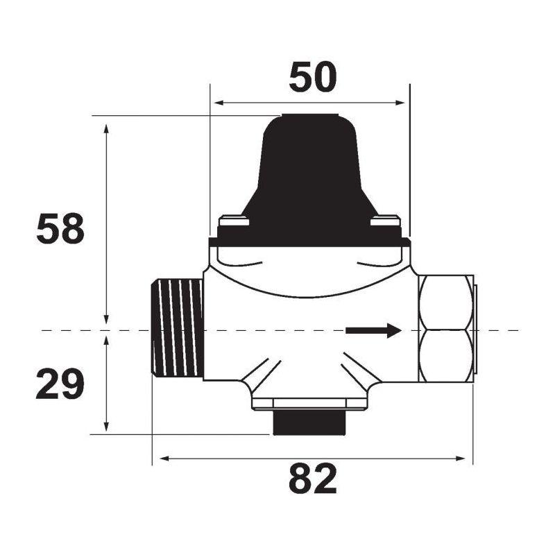 r ducteur de pression desbordes mod le securo 5sp dn20 acs sespdistribution. Black Bedroom Furniture Sets. Home Design Ideas