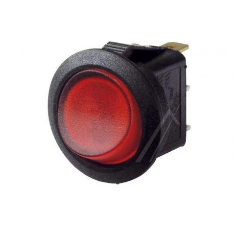 interrupteur rond à bascule lumineux 3 cosses 10 A 250 V