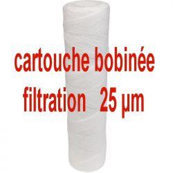 filtre à eau 25 microns anti boue Lg 250 mm cartouche bobinée 25µm