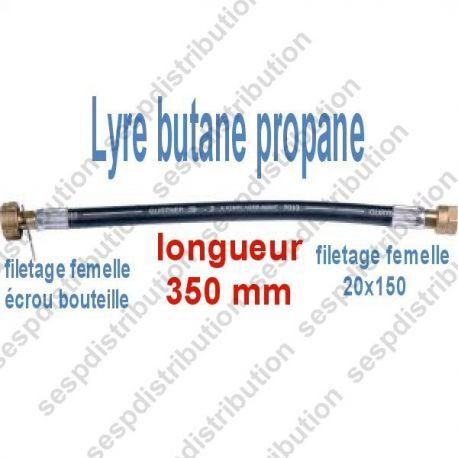 lyre souple alimentation flexible gaz F 20x150 F écrou bouteille