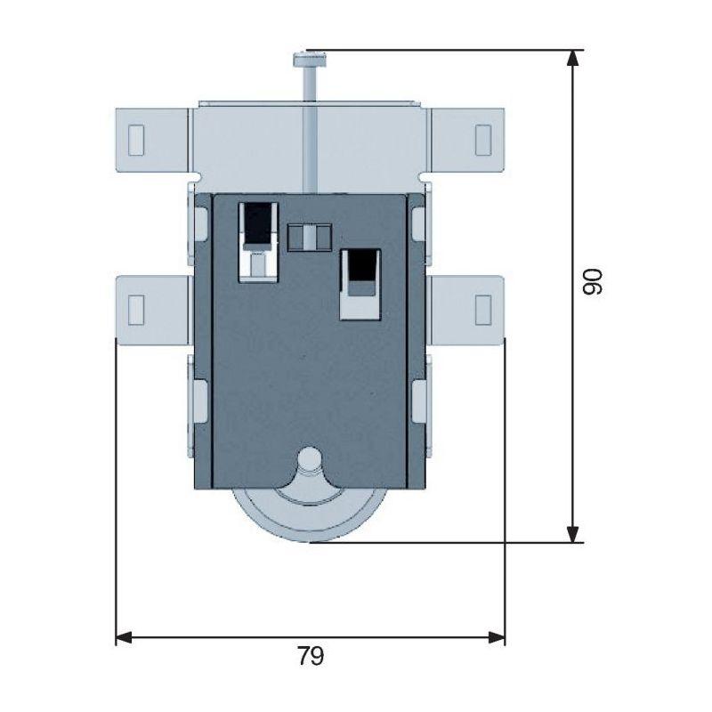 Roulette de placard coulissant galet sifisa sespdistribution - Roulette porte coulissante placard ...