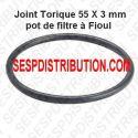 Joint torique de pot à filtre fioul 55X3 mm