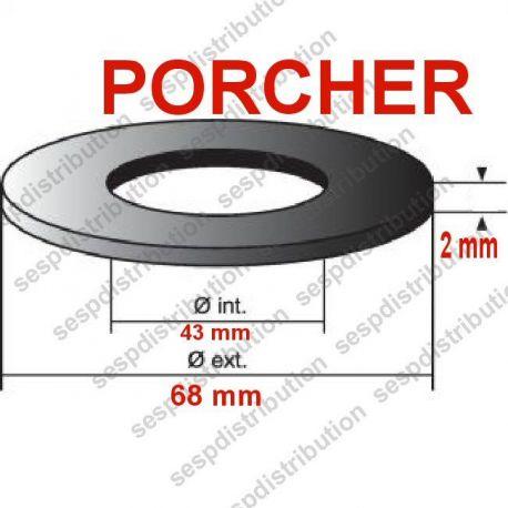 Joint mécanisme WC PORCHER 68x43x2 mm