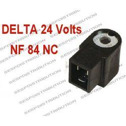 Bobine électrovanne DELTA NF 84 NC 24 Volts alternatif pour pompe de brûleur DELTA VU1