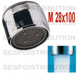 mousseur 28x100 robinet baignoire jet doux aéré Honeycomb perlator HC