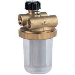 """Filtre à fioul WATTS RG2 FF 3/8"""" 12x17 en laiton pour installation à 2 tuyaux"""