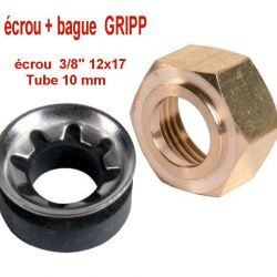 """raccord GRIPP 3/8"""" 12x17 tube 10 mm liaison tube cuve citerne tanker"""