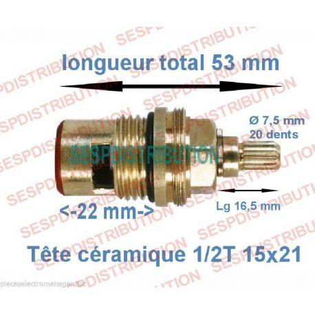 """Tête céramique GROHE compatible 1/2Tour 15x21 1/2"""""""